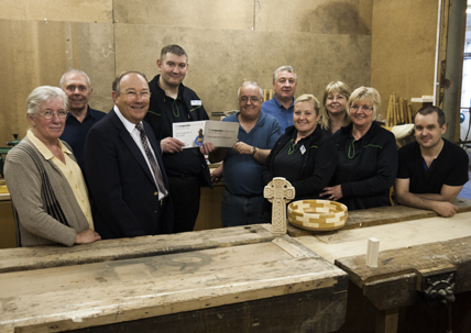 picture of cheque presentation from the co op