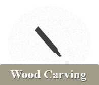 wood carving navigation button
